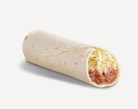 Jacked Up Value Bean, Rice & Cheese Burrito