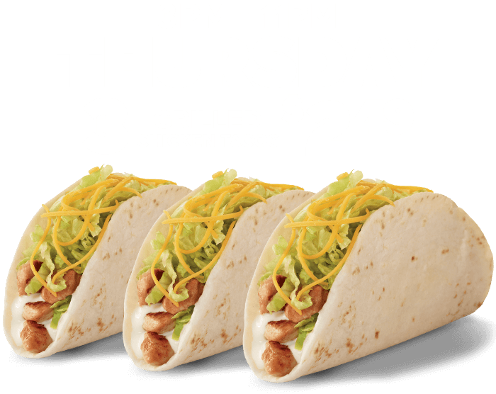 Every Thursday 3 Grilled Chicken Tacos $2.29 (mobile heading)